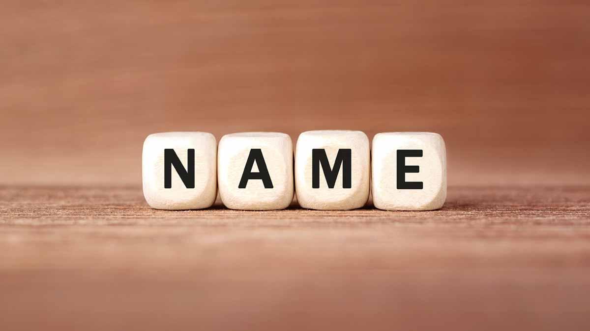 "Würfel bilden Wort ""Name"""